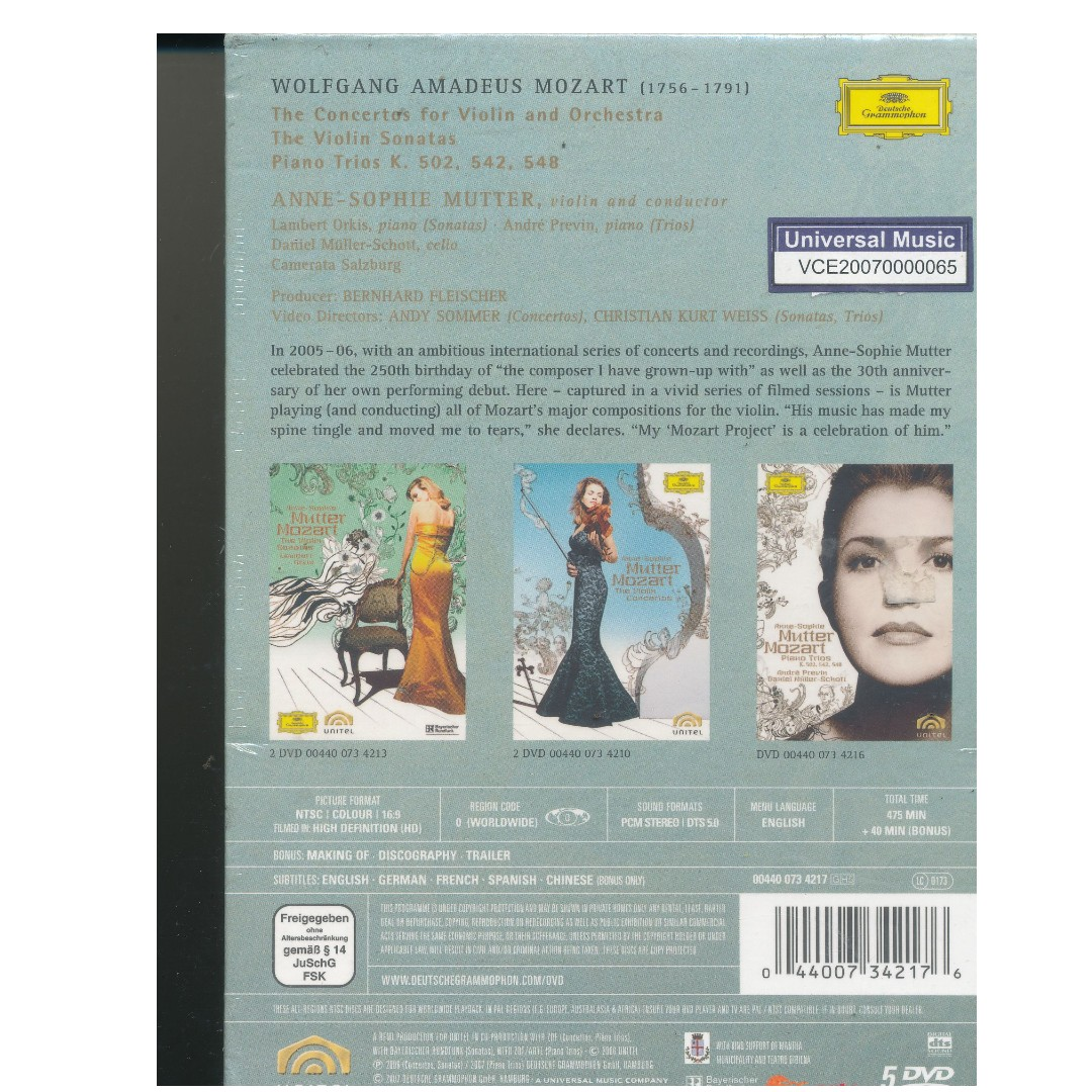 Anne-Sophie Mutter - Mozart Violin Concertos, Sonatas, and