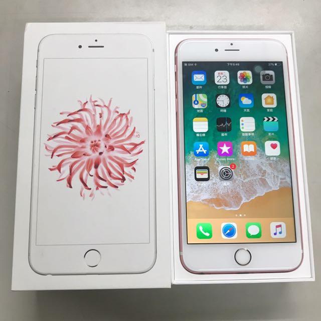 APPLE IPHONE 6S PLUS 128G 玫瑰金!