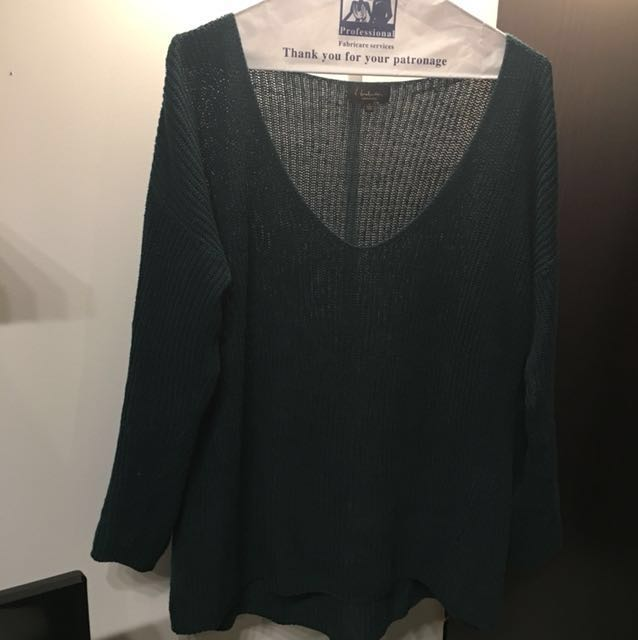 Aritzia Babaton Forest Green Knit Sweater size s