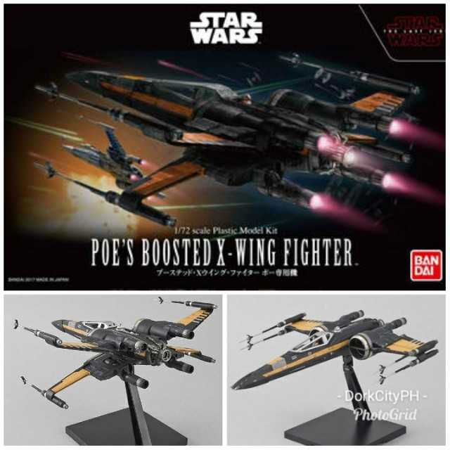Bandai Poe's Boosted X-Wing 1/72 Model Kit