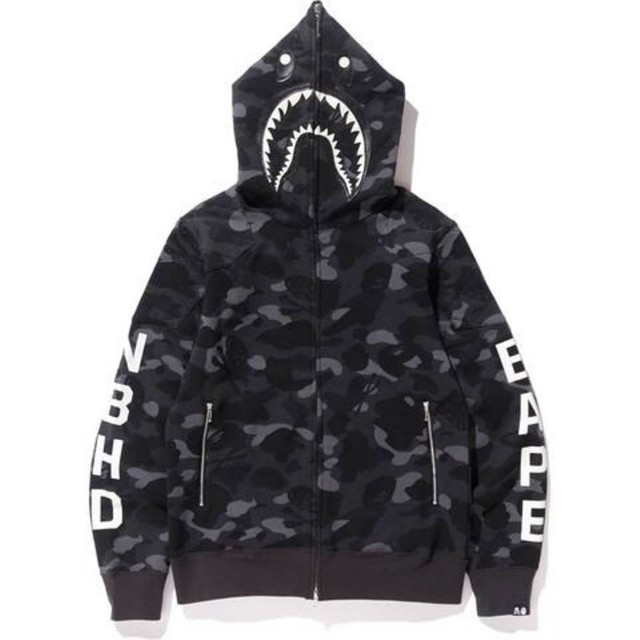990ea3815e2d Bape X Neighborhood (NBHD) Full Zip Shark Camouflage Hoodie