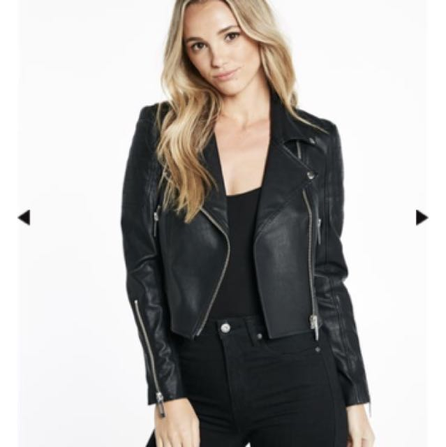 7c6149a02 Bardot Kora Biker Jacket PU Leather, Women's Fashion, Clothes on ...