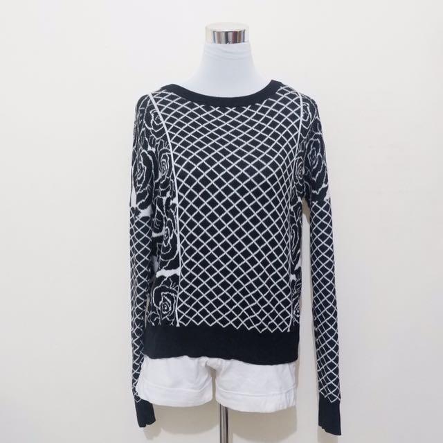 Black & white pattern LS