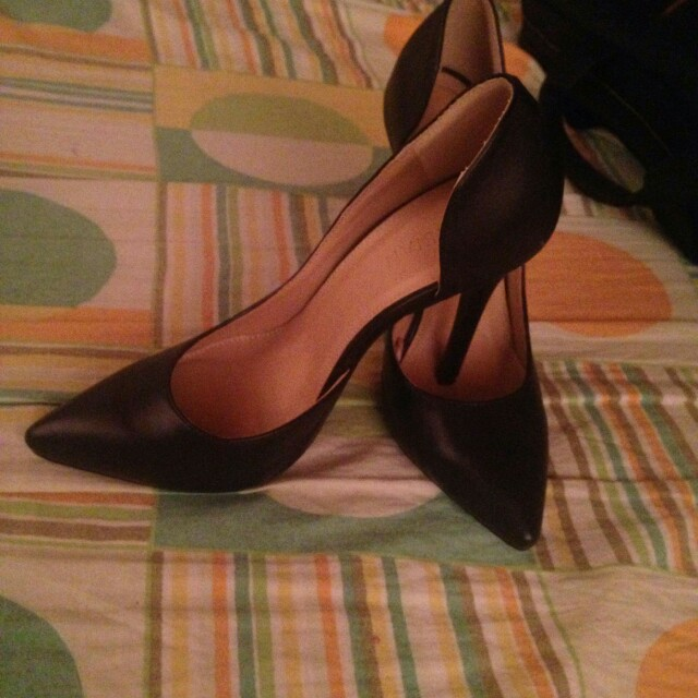 Black Heeled Shoes (For Office)