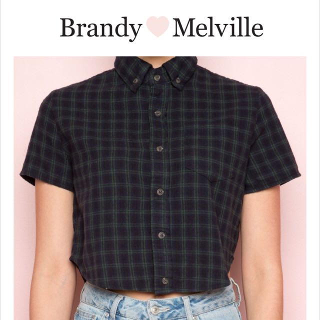 Brandy Melville / Cropped Flannel