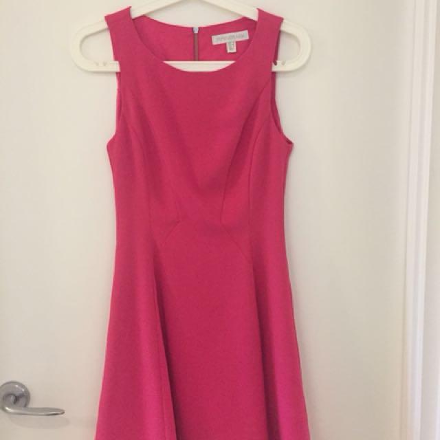 Bright pink skater dress