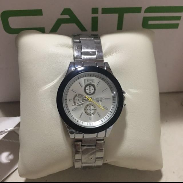 """Caite """" Longbo """" Stainless Steel Watch"""