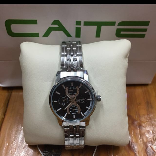 """Caite """" Longbo"""" Stainless Steel Watch"""