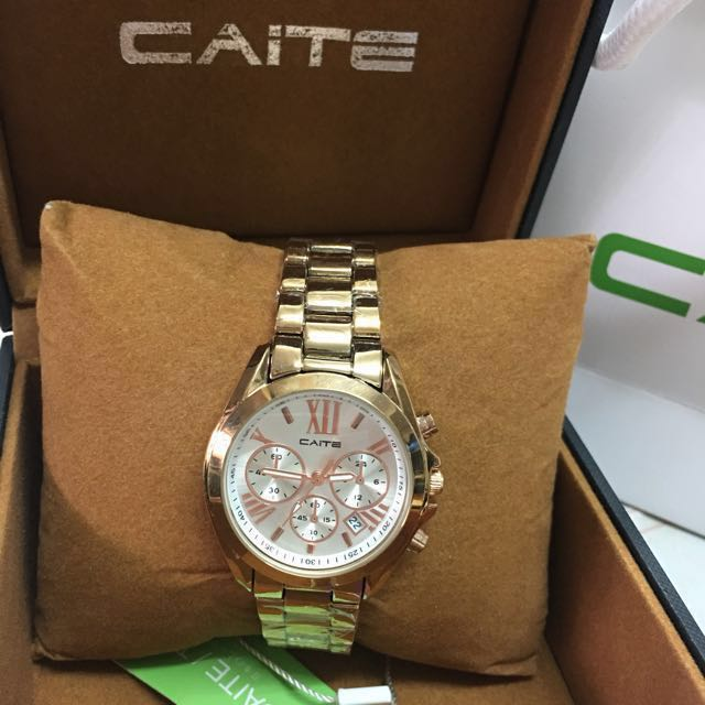 Caite Watch Rose Gold Stainless Steel