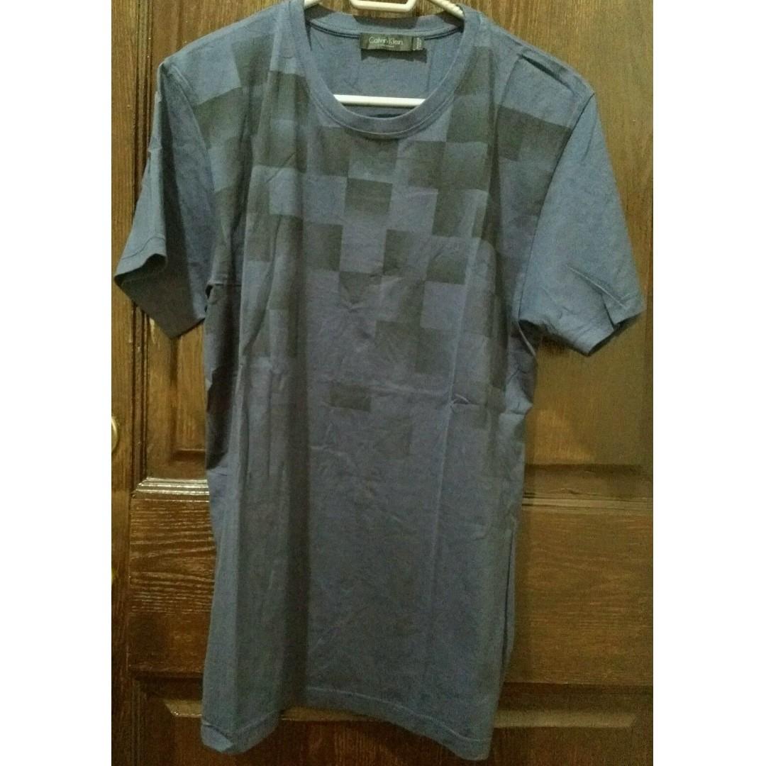 Calvin Klein Collection Men's T-Shirt - M - Navy Blue