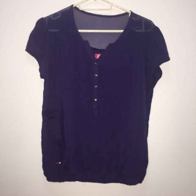 Candie's Blouse Navy Blue