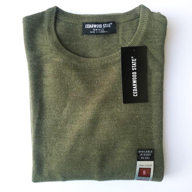 Cedarwood State Olive Green Sweatshirt / Pullover