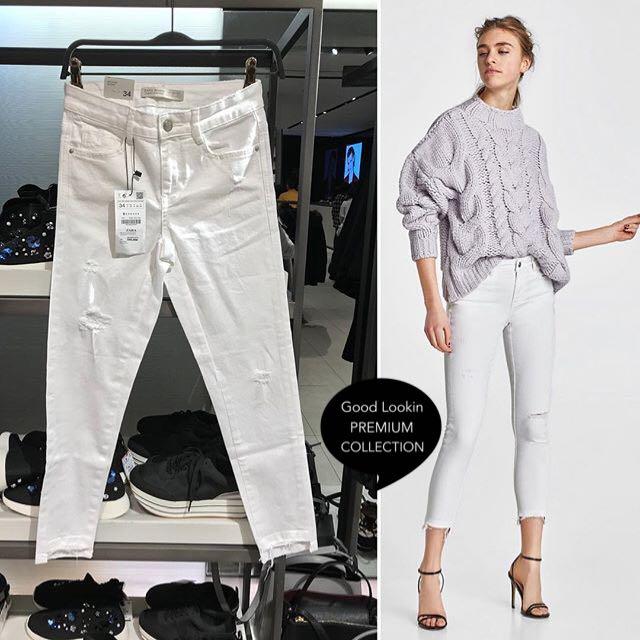 Celana jeans (white)