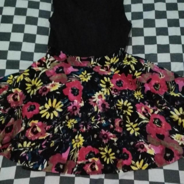 clock flowery dress