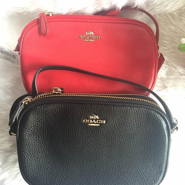 f57bf8d3defb Coach red CROSSBODY CLUTCH IN PEBBLE LEATHER