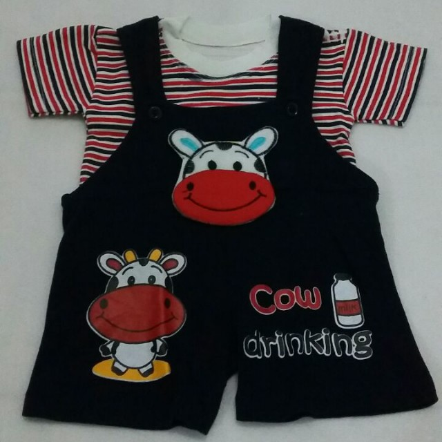 Cow Navy Overal