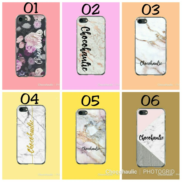 Custom Case marble calligraphy personalised phone case