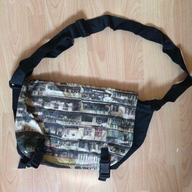 Digi Print Biker Shoulder Bag