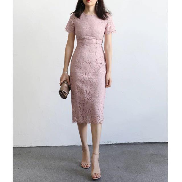 Dust Pink Lace Dress