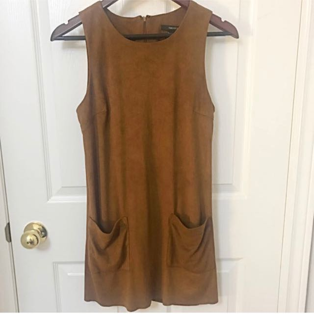 F21 suede dress