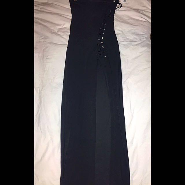 Forever 21 tube dress with slit- medium