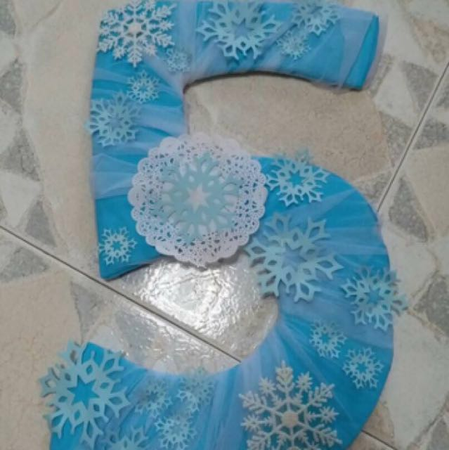 Frozen Elsa Olaf Themed 5 Five Years Old Birthday Decorations