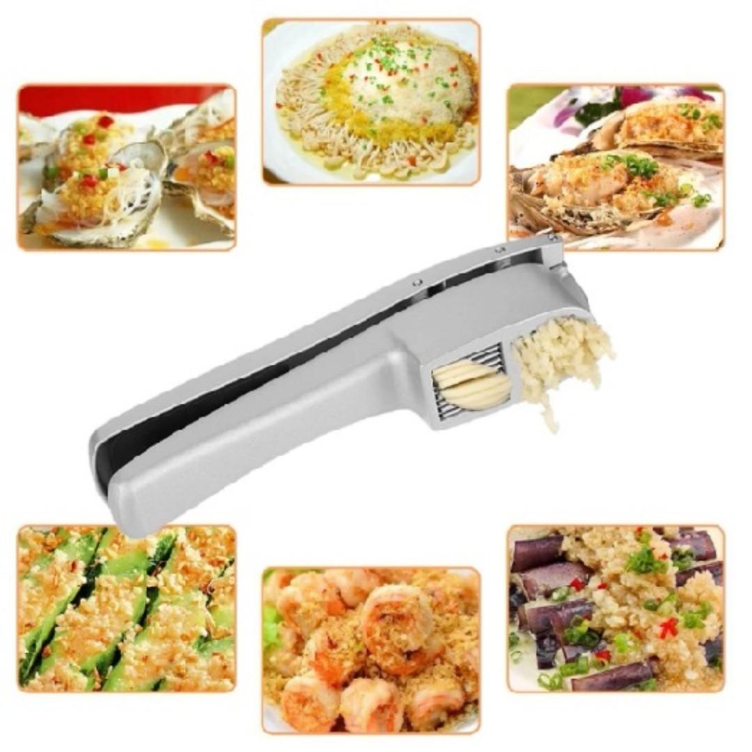 Garlic Press Slicer Crush Kitchen Tool Aluminum Alloy Manual Hand ...