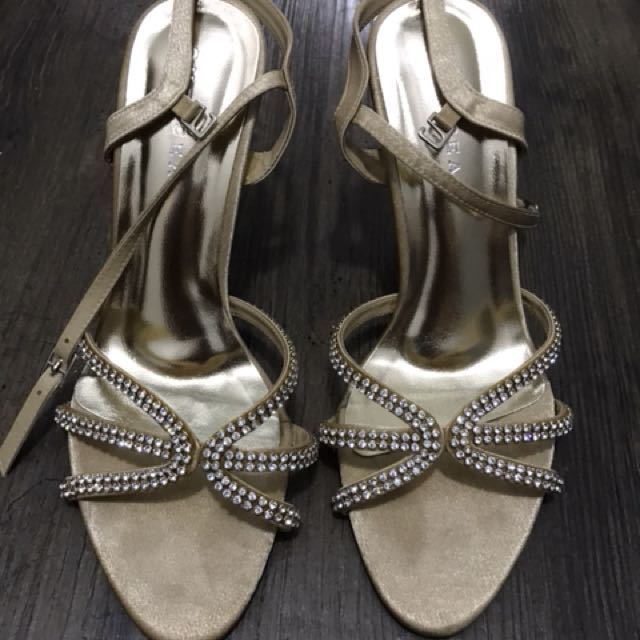 Gold Strappy Sandals #03