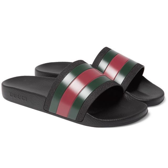 bc08c07c7 Gucci Slides Persuit 72 (101% Authentic) JUST IN!!!!!!, Men's Fashion,  Footwear, Slippers & Sandals on Carousell
