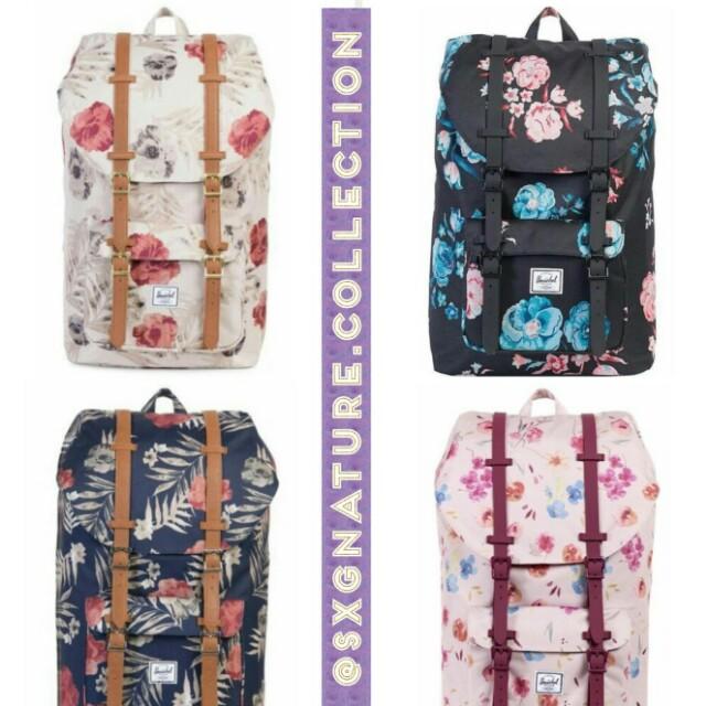 Herschel Supply Co. Floral Little America Mid Volume Backpack 3ccebeeaaf1b3