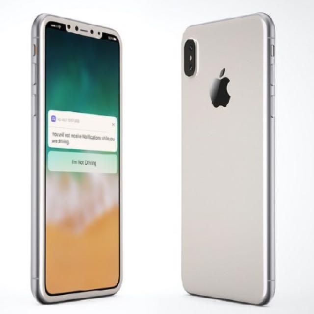 iphone x 銀色256g 全新未使用已拆封、保固未開始