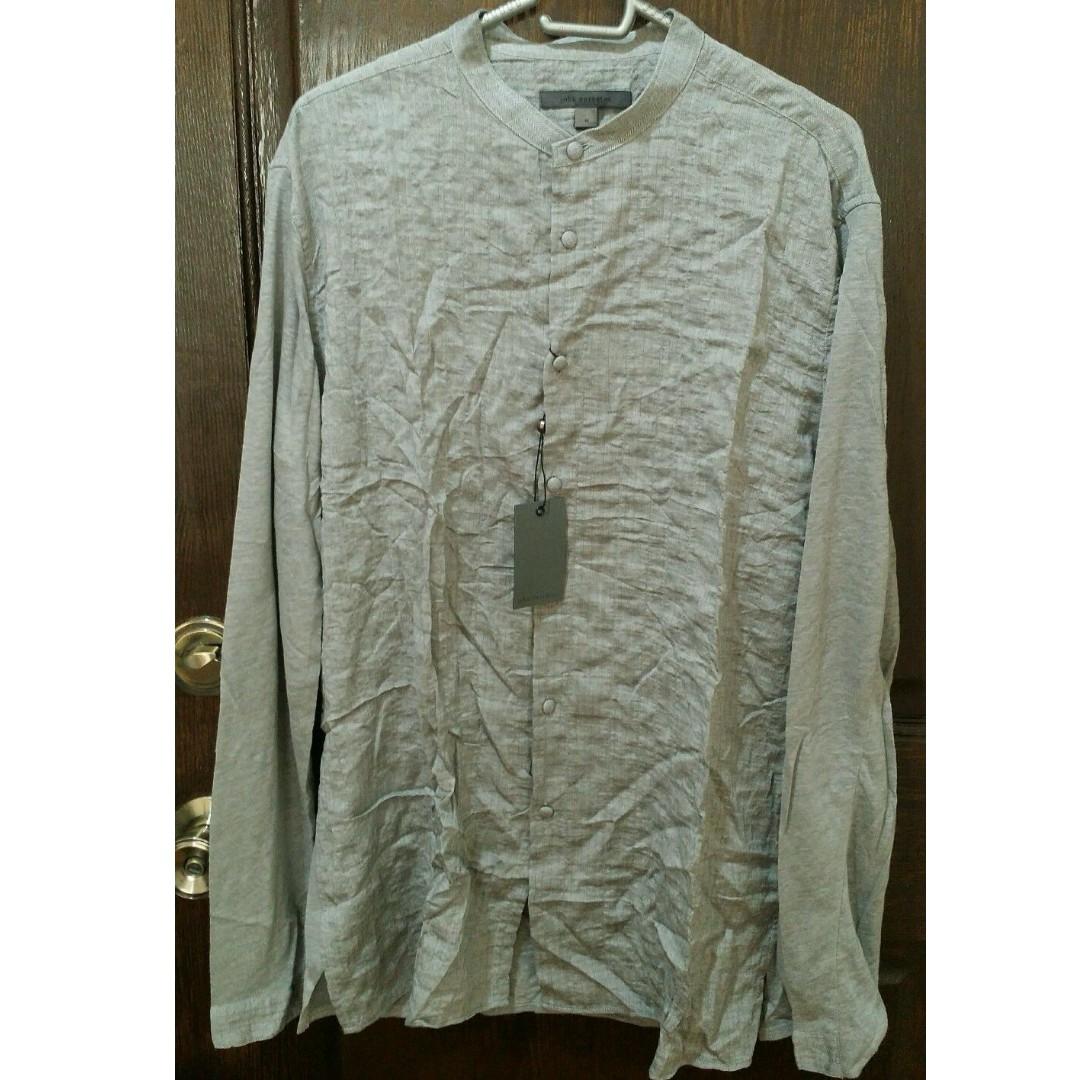 John Varvatos Men's Casual Shirt - M - Grey