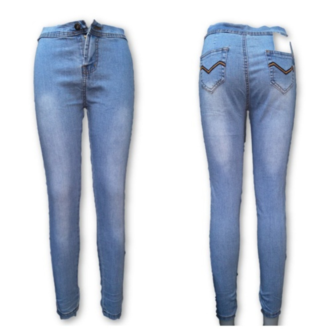 Joni/High-waisted Light Blue Pants