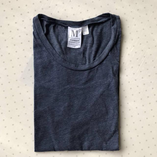 Kaos Polos T-Shirt Topman Size M Like New Original