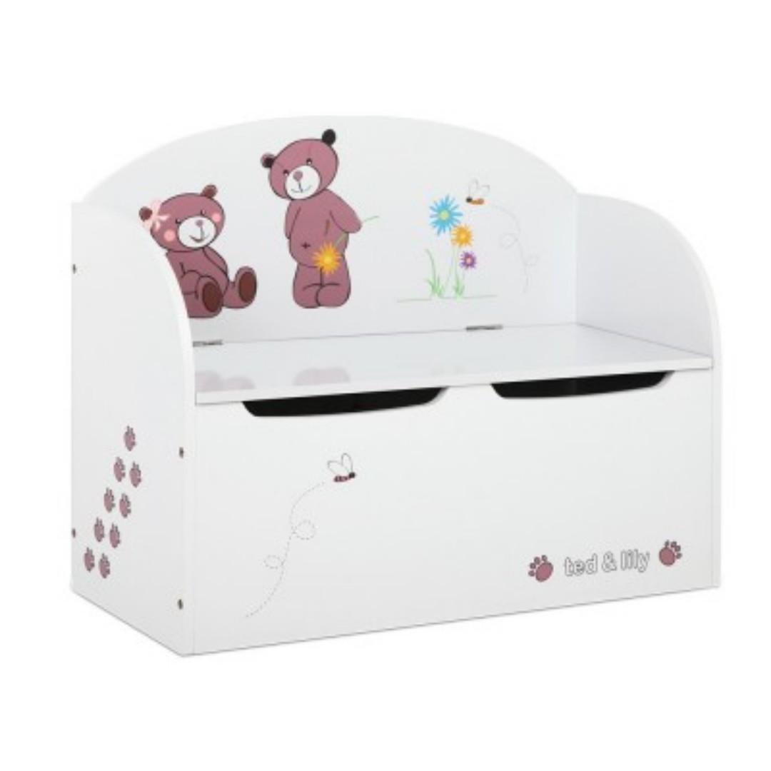 photo photo ...  sc 1 st  Carousell & Kids Wooden Storage Box u0026 Bench SKU: PLAY-WOOD-TOYSTORE-FWH Babies ...
