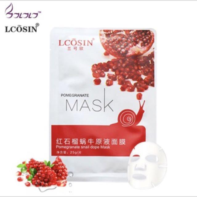 LCOSIN Pomegranate Snail Essence Mask