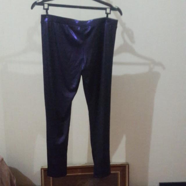 Zara Legging Ungu Metalik Women S Fashion Women S Clothes On Carousell