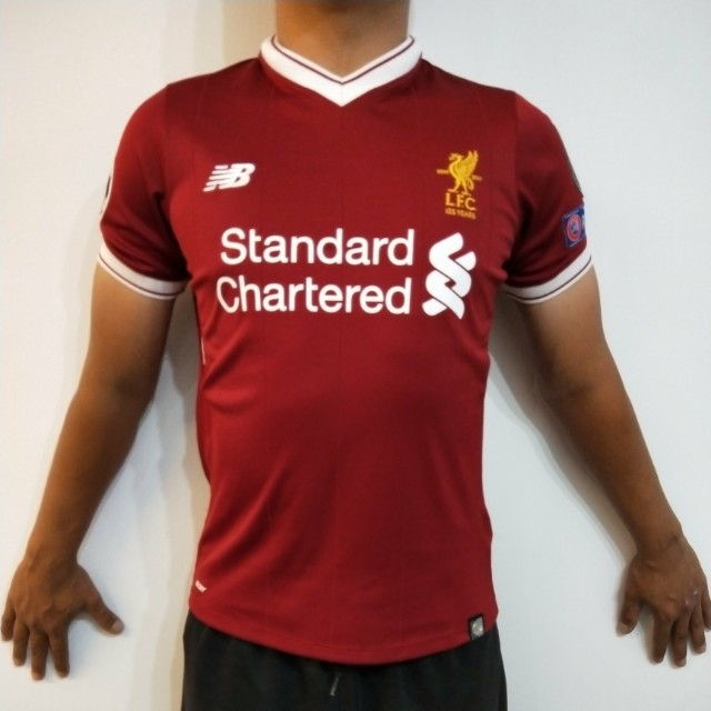 official photos 4153a 8e389 Liverpool Jersey Home Kit 2017/2018, Sports, Sports Apparel ...