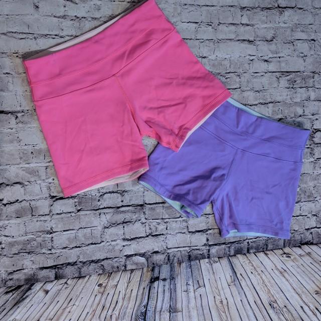 Lot of 2 LuLuLemon groove shorts