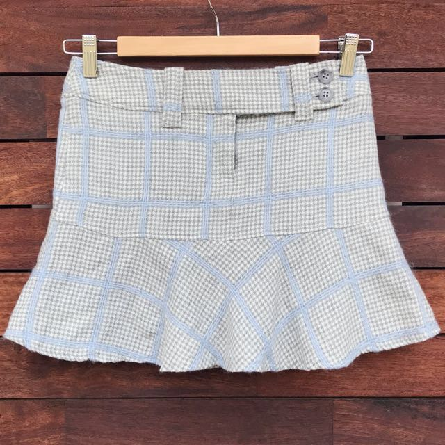 *MADE IN JAPAN* Houndstooth mini skirt size XS