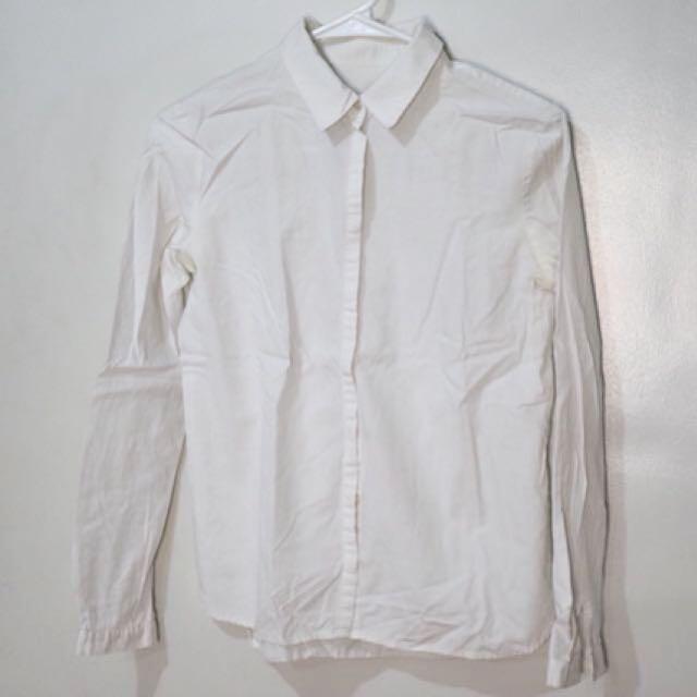 MANGO White Polo