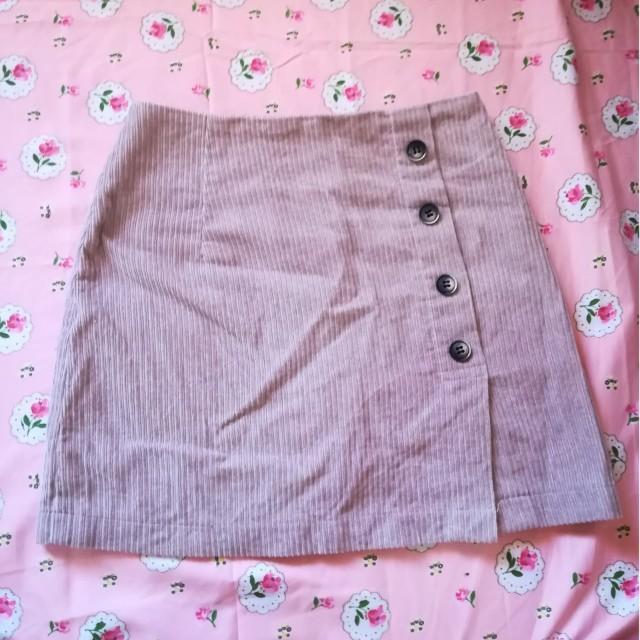 Mauve pink corduroy hw skirt