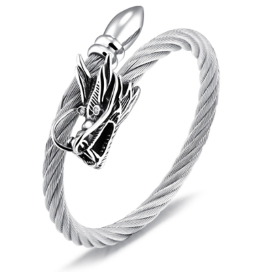Men\'s Dragon Wire Rope Bracelet, Men\'s Fashion, Accessories on Carousell