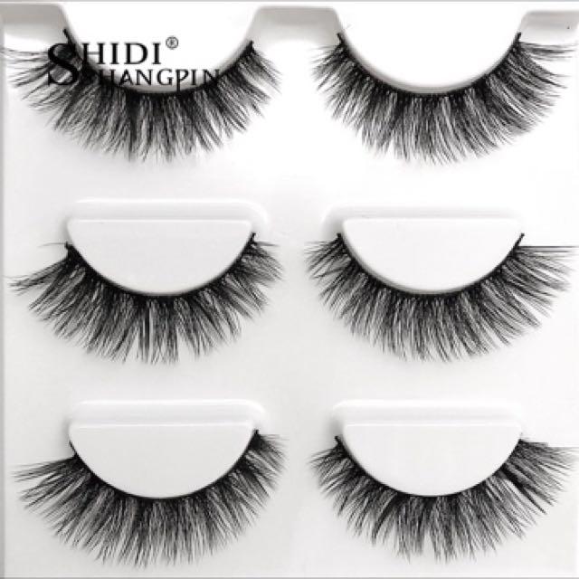 Mink False Eyelashes (3 Pack)