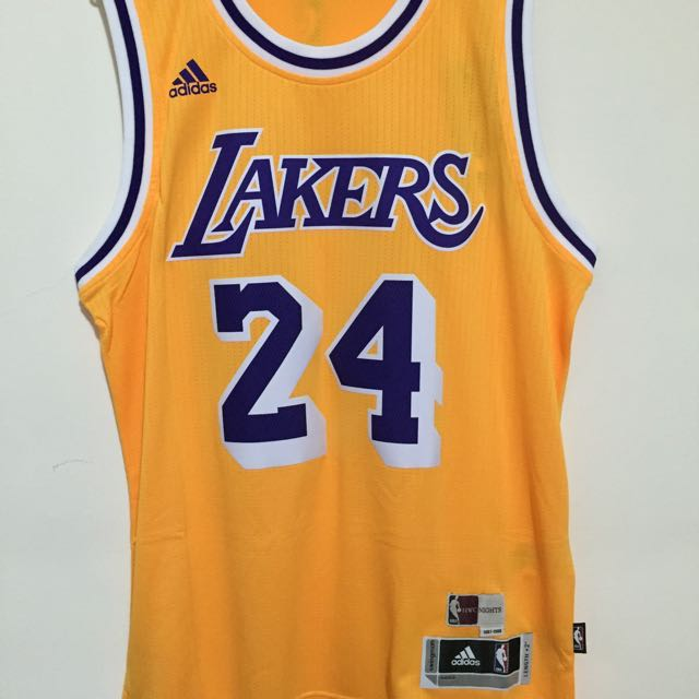 NBA Lakers Kobe 復古 黃 台版 M
