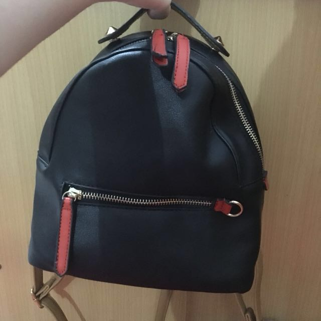 NEGO! MINISO BACKPACK BLACK BROWN