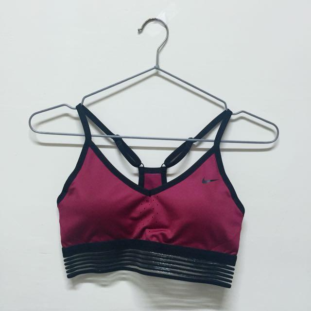 Nike低強度運動內衣(酒紅色