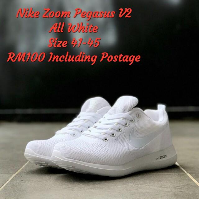 new product 93a23 c142d Nike Zoom Pegasus V2 All White