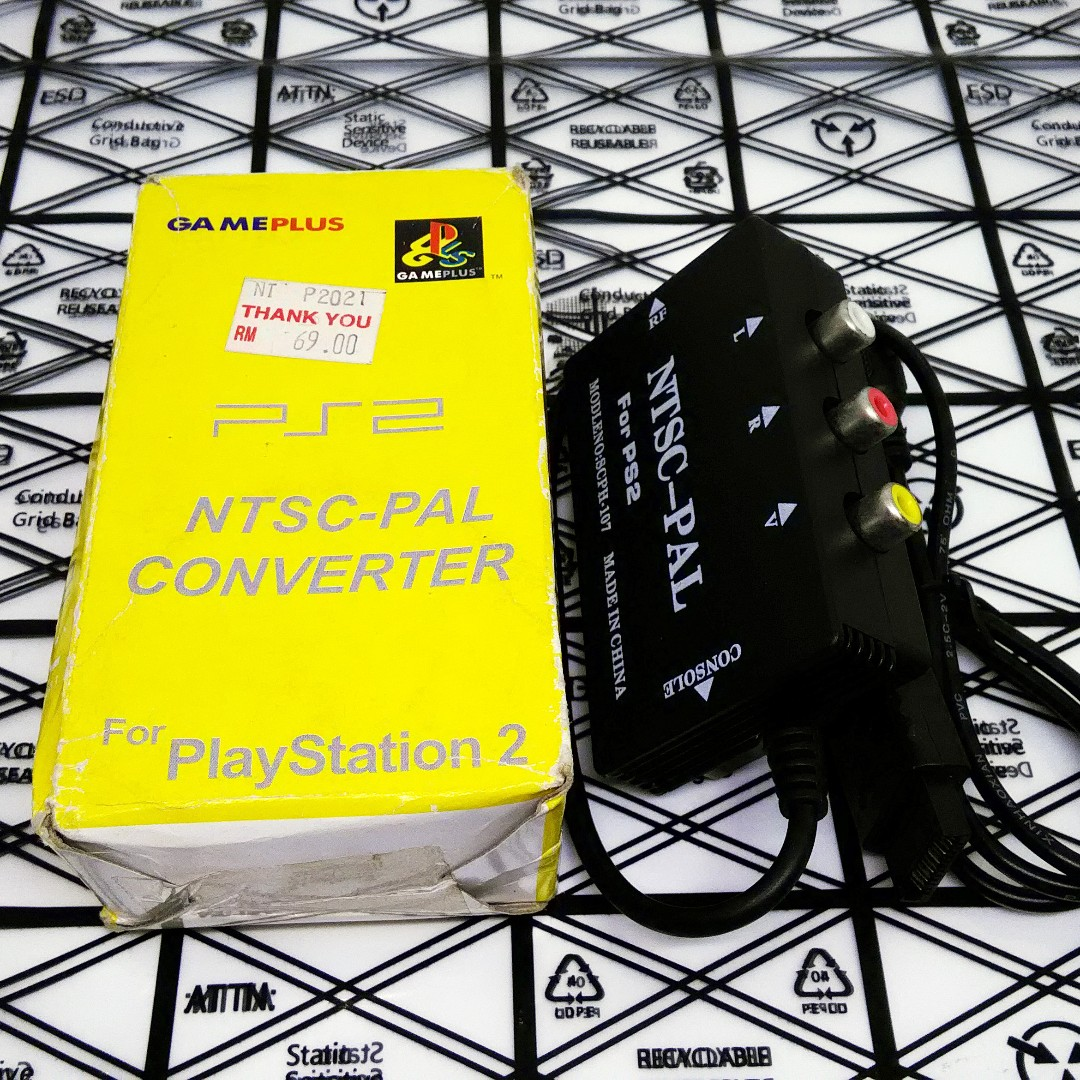 NTSC-PAL Converter for PlayStation 2 PS2 Yellow Box