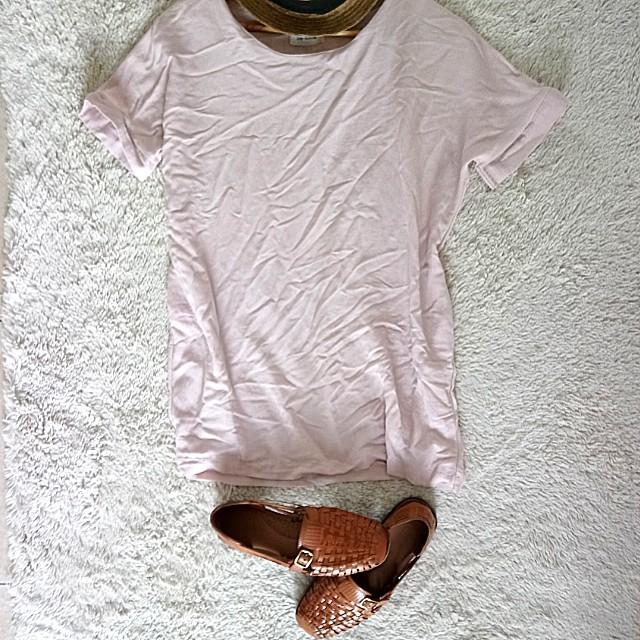 Nude Pink summer dress shirt